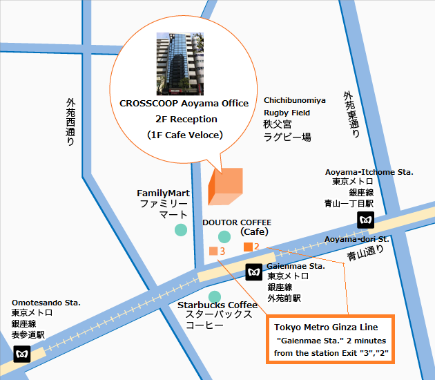 Aoyama Itchome On Subway Map.Crosscoop Aoyama Access Map